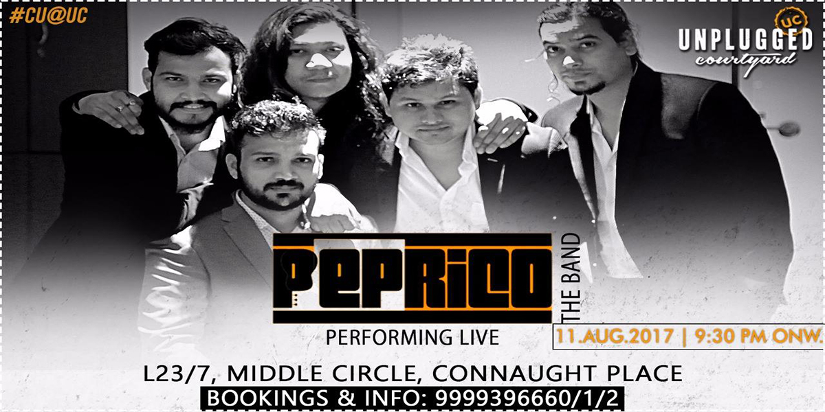 For all the music lovers, Peprico The Band, is performing Live at Unplugged Courtyard